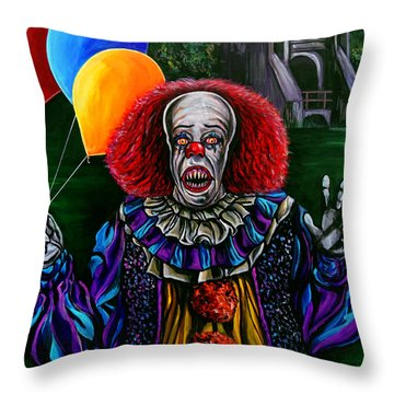 Pennywise It Throw Pillow by Jose Mendez