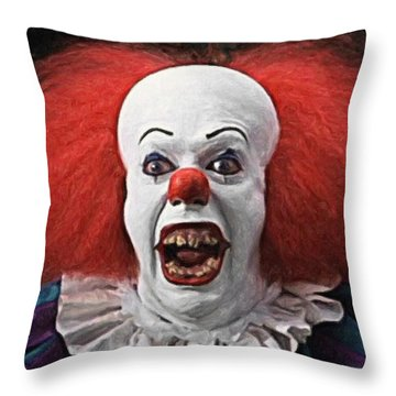 Pennywise The Clown Throw Pillow by Taylan Apukovska