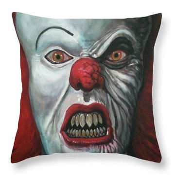 Pennywise Throw Pillow by Tom Carlton