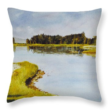 Petomska Inlet Throw Pillow
