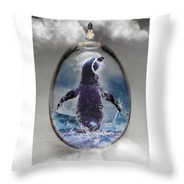 Penquin Art Throw Pillow