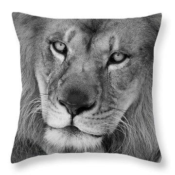 Pensive Black And White Throw Pillow