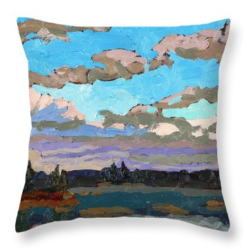 Pensive Clouds Throw Pillow