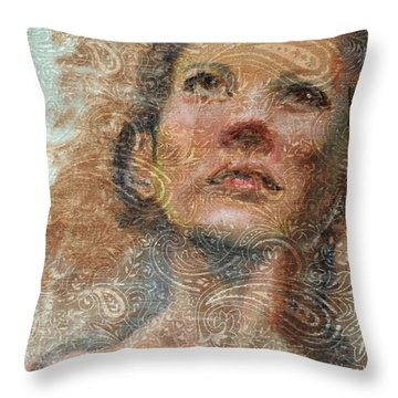 Pensive Throw Pillow by Vicki Ross