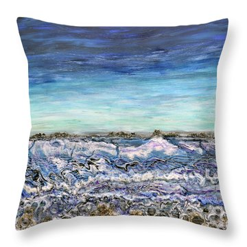 Pensive Waters Throw Pillow