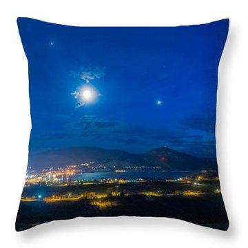 Penticton Night 1 Throw Pillow by Thomas Born