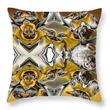 Pentwins Throw Pillow by Ron Bissett