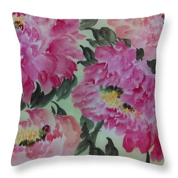 Peoney20161229_4 Throw Pillow by Dongling Sun