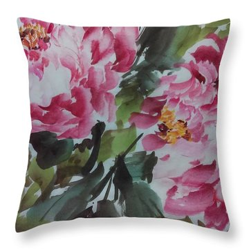 Peoney20161229_6 Throw Pillow by Dongling Sun