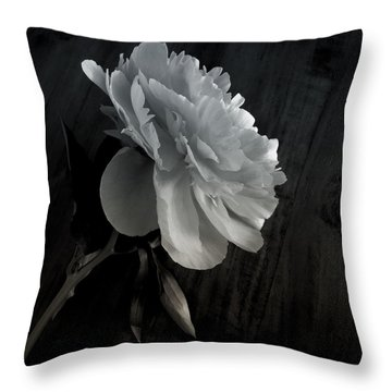 Throw Pillow featuring the photograph Peonie by Sharon Jones