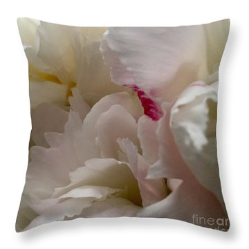 Peonies 2015 Throw Pillow by Patricia E Sundik