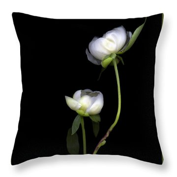 Peonies Throw Pillow by Christian Slanec