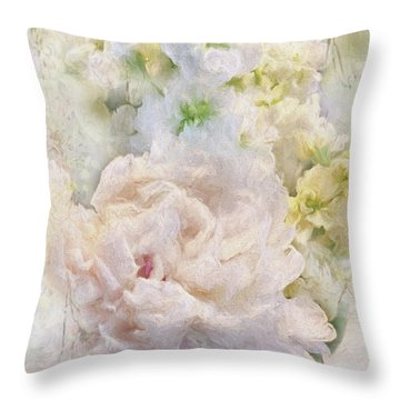Peony 3 Throw Pillow