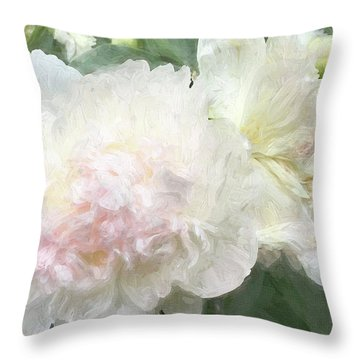 Peony 4 Throw Pillow
