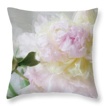 Peony 7 Throw Pillow
