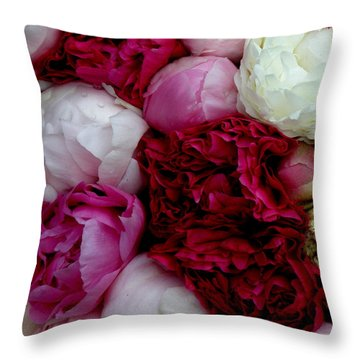 Peony Bouquet Throw Pillow
