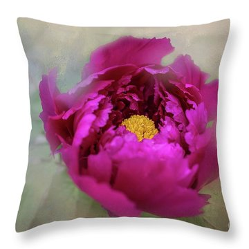 Peony Throw Pillow by Eva Lechner