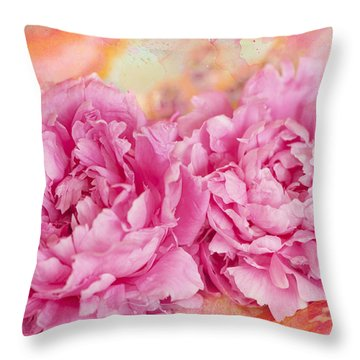 Peony Fiesta Throw Pillow