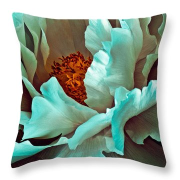 Peony Flower Throw Pillow by Chris Lord