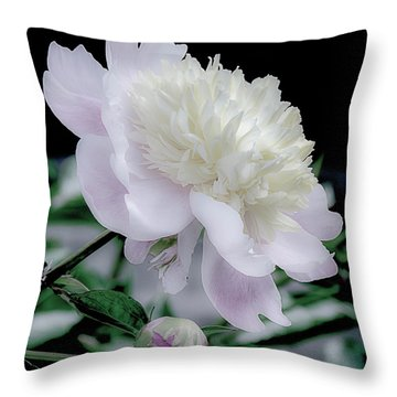 Peony In Bloom Throw Pillow