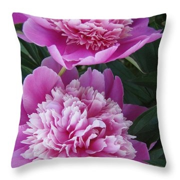 Throw Pillow featuring the photograph Peony by Kristine Nora