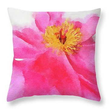 Throw Pillow featuring the digital art Peony by Mark Greenberg