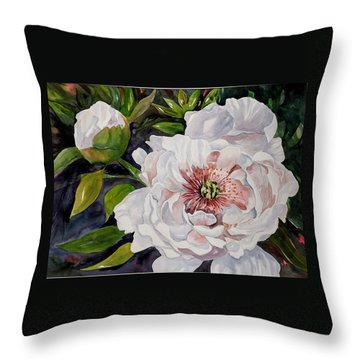 Peony Pals Throw Pillow