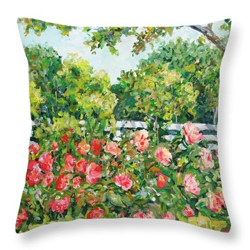 Peony Riot Throw Pillow