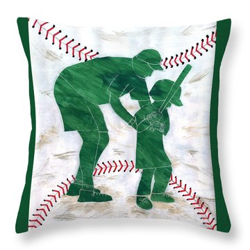 People At Work - The Little League Coach Throw Pillow