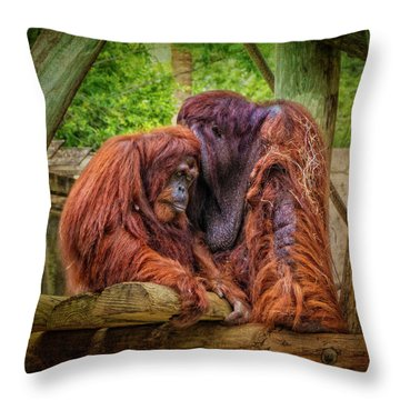 People Of The Forest Throw Pillow