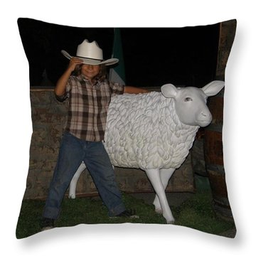 People Ride These  Throw Pillow
