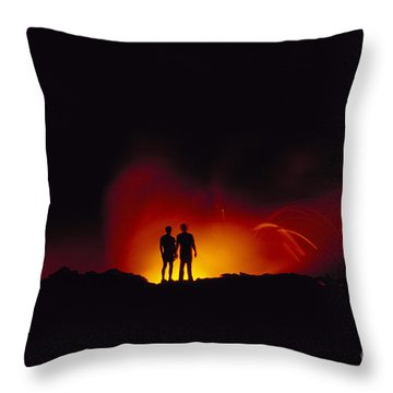 People View Lava Throw Pillow by Ron Dahlquist - Printscapes