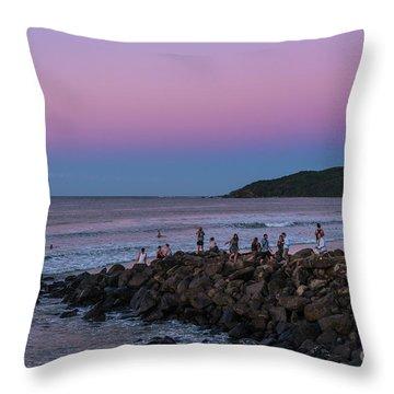People Watch The Sun Set Throw Pillow