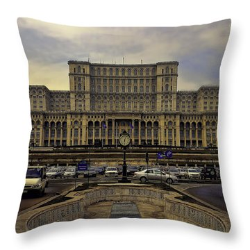 Throw Pillow featuring the photograph People's Palace by Rob Tullis
