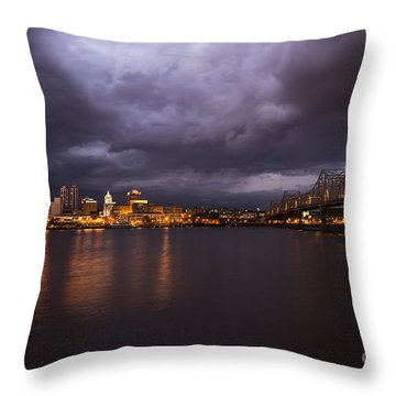 Throw Pillow featuring the photograph Peoria Dramatic Skyline by Andrea Silies