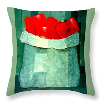 Peperoni Rossi Throw Pillow