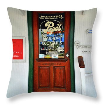 Throw Pillow featuring the photograph Pepes by Jost Houk