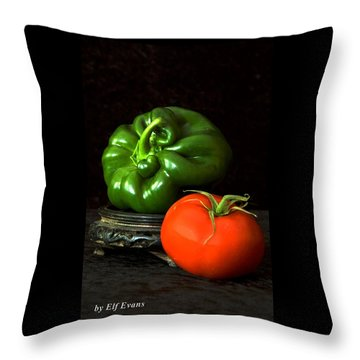 Pepper And Tomato Throw Pillow