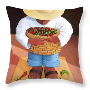 Pepper Boy Throw Pillow