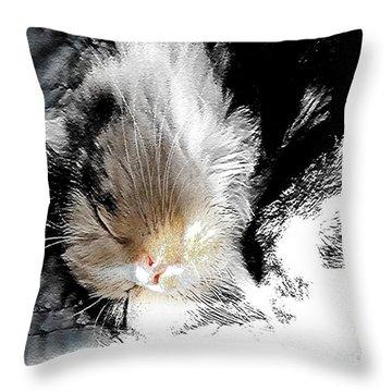 Pepper Sunface Throw Pillow