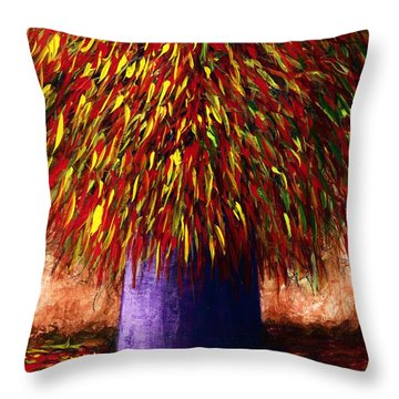 Peppered  Throw Pillow