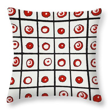 Peppermint And Licorice Throw Pillow