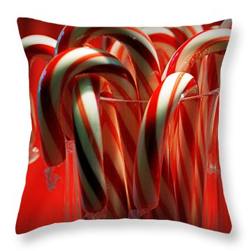 Peppermint Jumble Throw Pillow