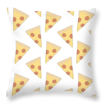 Pepperoni Pizza- Art By Linda Woods Throw Pillow