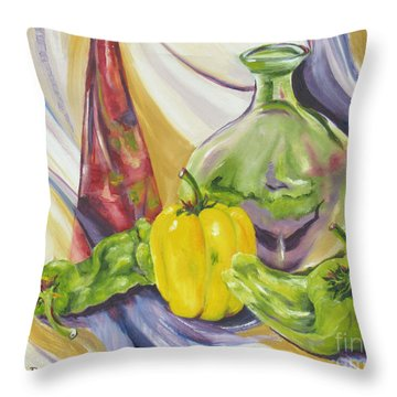 Peppers And Passion Throw Pillow