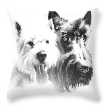 Throw Pillow featuring the digital art Pepsi And Max by Charmaine Zoe