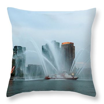 Pepsi Sign And Fdny  Throw Pillow