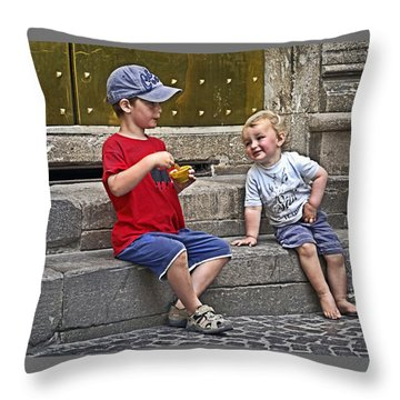 Per Favore Throw Pillow by Keith Armstrong