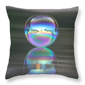 Perception Throw Pillow by Cathie Douglas