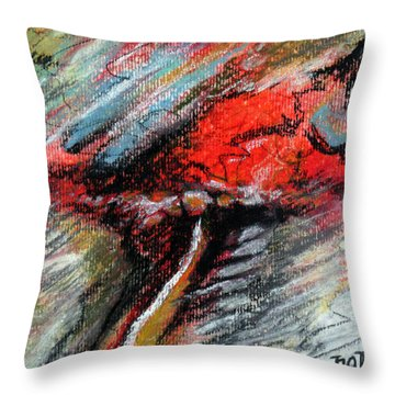 Throw Pillow featuring the painting Perception by Rick Baldwin